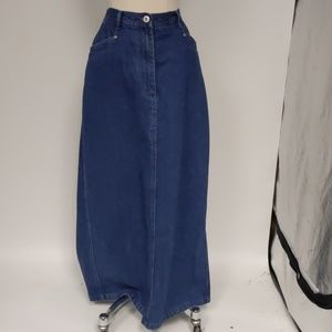 David Brooks blue denim maxi skirt-sz 10